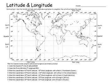 Latitude & Longitude  - Geography Practice Maps