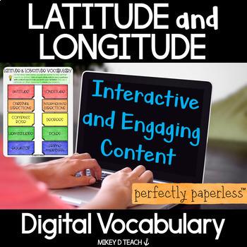 Latitude & Longitude Interactive Vocabulary - Perfectly Paperless Resource