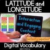 Latitude & Longitude Interactive Vocabulary - Perfectly Pa