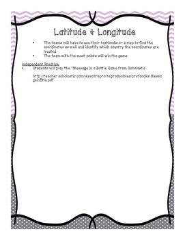 Latitude & Longitude Lesson Plan