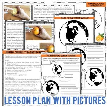 Latitude & Longitude Lesson Plan with Demo (Activity Using Oranges)