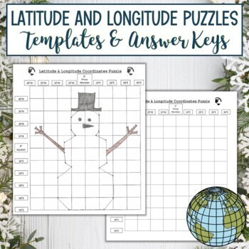 Latitude and Longitude Puzzle-Winter Holiday Christmas Hanukkah Collection