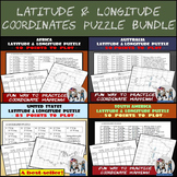 Latitude and Longitude Puzzles Bundle