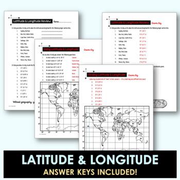 Latitude and Longitude Worksheet Activities by Addie ...