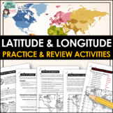 Latitude and Longitude Worksheet Activities for Practice a