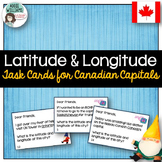 Latitude and Longitude Task Cards - Canadian Capitals