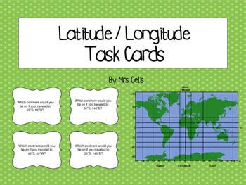 Latitude & Longitude Task Cards (Set 2)