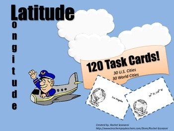 Latitude & Longitude Task Cards Super Bundle