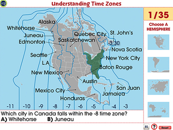 Latitude, Longitude and Time Zones - NOTEBOOK Gr. 3-5