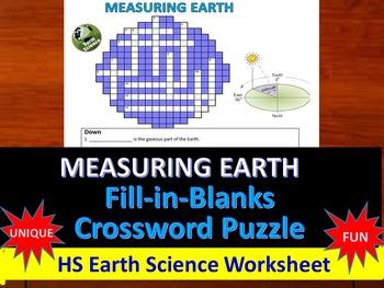 Latitude, Polaris - Fill-in-Blanks Review & Crossword (Regents Earth Science)
