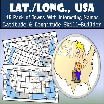 Latitude and Longitude 15-Pack - Towns with Fun Names - 50% OFF!