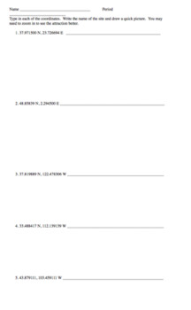 Latitude and Longitude - 3 Centers