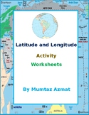 Geography: Latitude and Longitude Activity Worksheets