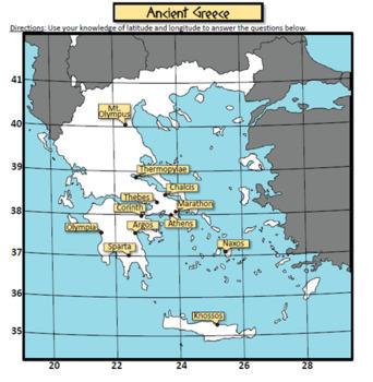 Latitude and Longitude - Ancient Greek City-States
