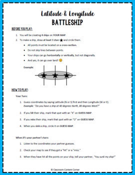 Latitude and Longitude BUNDLE!