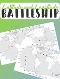 Latitude and Longitude Battleship