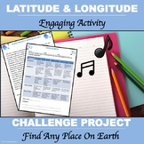 """Latitude and Longitude """"Song Project"""""""