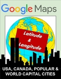 Latitude and Longitude: Cities Worksheet - Google Maps