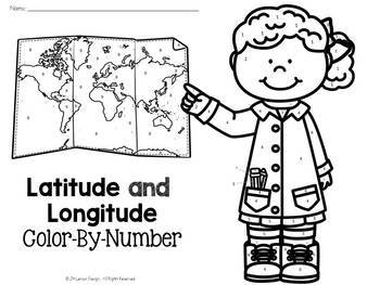 Latitude and Longitude Color-By-Number