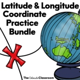 Latitude and Longitude Coordinate Practice Bundle
