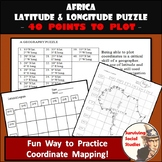 Latitude and Longitude Worksheet - Africa Coordinates Puzzle