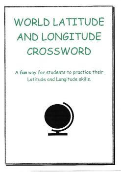 Latitude and Longitude Crossword