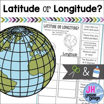 Latitude and Longitude Cut and Paste Activity: Distance Learning Compatible