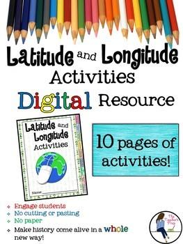 Latitude and Longitude Digital Activities for Google Drive