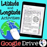 Latitude and Longitude Digital Activities for Google Drive