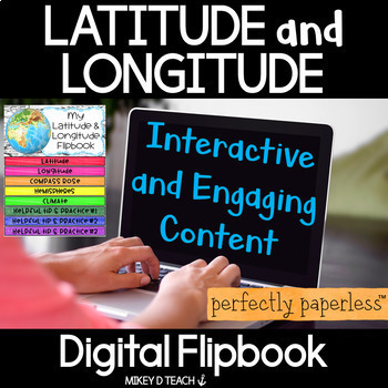 Latitude and Longitude Digital Flipbook - Perfectly Paperless Resources