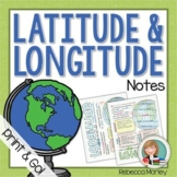 Latitude and Longitude Doodle Notes