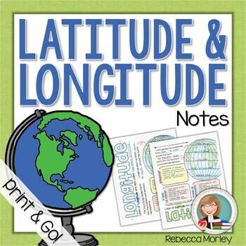 Latitude And Longitude Worksheet With Answer Key | TpT