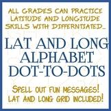 Latitude and Longitude Dot-to-Dot Puzzle Alphabet Pack - D