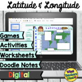 Latitude and Longitude Games, Activities and Worksheets Distance Learning