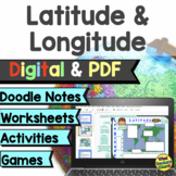 Latitude and Longitude Games, Worksheets and Activities Di