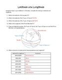 Latitude and Longitude Geography Activity