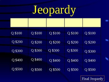 Latitude and Longitude Jeopardy Review
