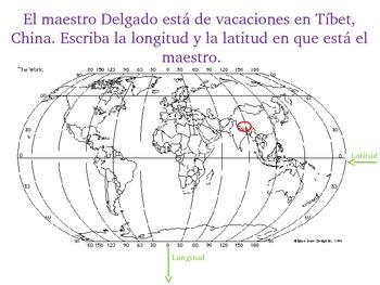 Latitude and Longitude- Latitud y longitud