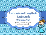 Latitude and Longitude Map Practice Task Cards (24 Cards)