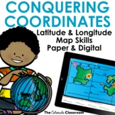 Latitude and Longitude Map Skills Practice | Coordinate Wo