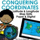 Latitude and Longitude Map Skills Practice | Coordinate Wo