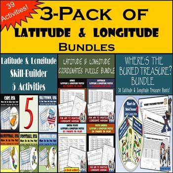 Latitude and Longitude Mega Bundle - 39 Activities! - 25%