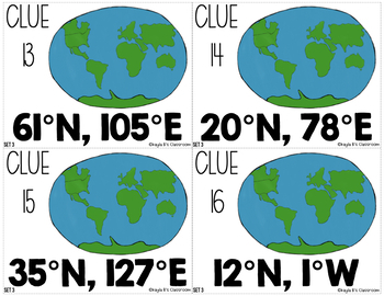 Latitude and Longitude Mystery Locations