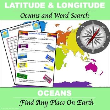 "Latitude and Longitude ""Oceans of the World"""