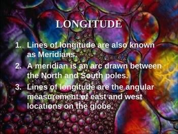 Latitude and Longitude Power Point