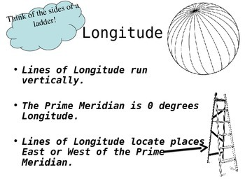Latitude and Longitude PowerPoint Grades 2-5