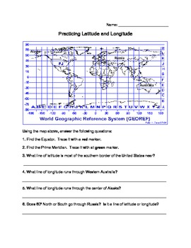 Latitude And Longitude Practice By Live Teach Laugh Run Tpt