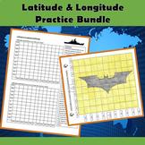 Latitude and Longitude Practice Bundle - Battleship and Batman