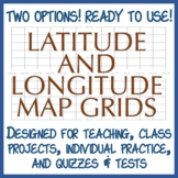 Latitude and Longitude Practice Grids - Two Options!