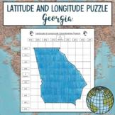 Latitude and Longitude Practice Puzzle Georgia